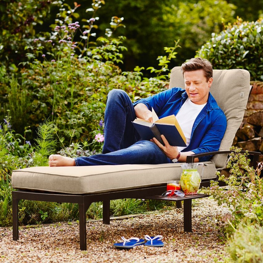 Image of Jamie Oliver Contemporary Lounger - Bronze / Biscuit
