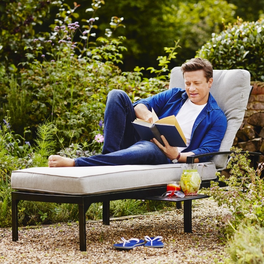2019 Jamie Oliver Contemporary Lounger Riven Pewter
