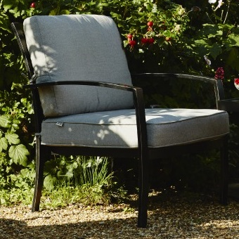 Small Image of Jamie Oliver Contemporary Chill Out Chair - Riven/Pewter