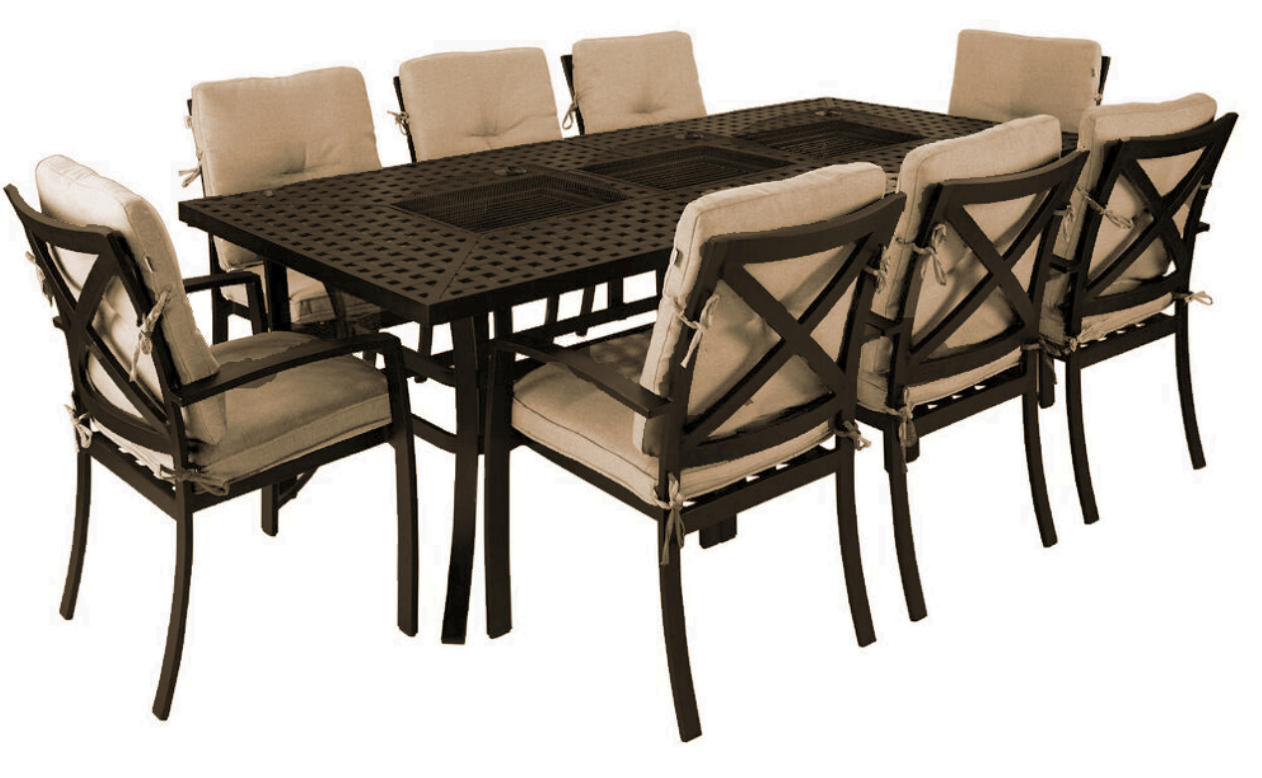 Jamie Oliver 8 Seater Feastable Set Contemporary Bronze