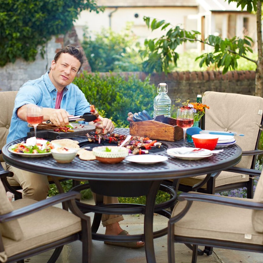 jamie oliver 6 seater grilling garden furniture set 1266 5 garden4less uk shop. Black Bedroom Furniture Sets. Home Design Ideas