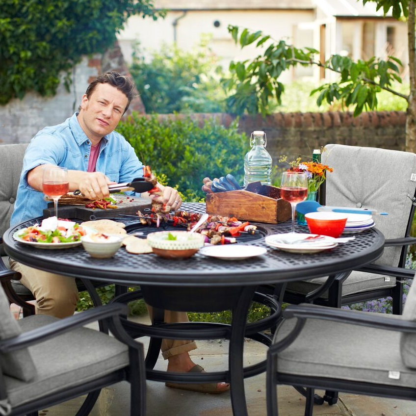 Small Image of Jamie Oliver Classic 6 Seater Grilling Set - Riven / Pewter