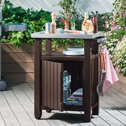 Small Image of Keter Unity Barbecue Accessory Trolley Stand - Single