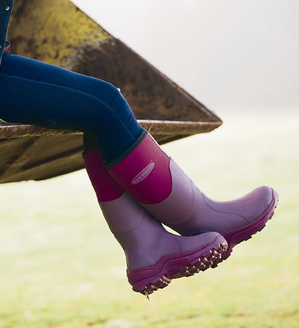 Extra image of Muck Boot - Greta Tall - Fuchsia -UK 8 / EURO 42