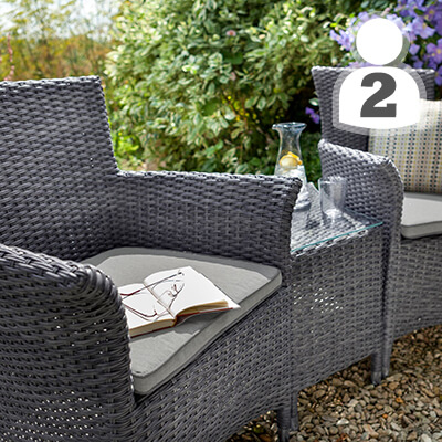 Image for 2 Seater Weave Furniture Sets
