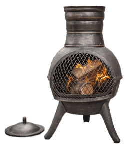 Image of chimineas and firebowls