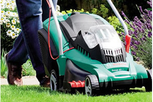 A wide range of Bosch lawnmowers