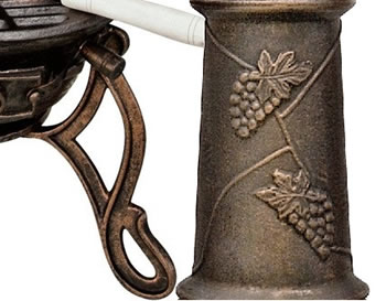 Extra image of Extra Large Toledo Bronze Grape Cast Iron Chiminea with Grill