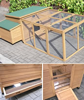 Superior Large Ridgway Chicken Coop with Nest Box and Run