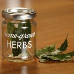 Small Image of 4x Burgon & Ball Home Grown Herbs Storage Jars glass freshly dried garden herbs