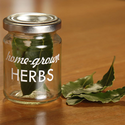 Image of 4x Burgon & Ball Home Grown Herbs Storage Jars glass freshly dried garden herbs