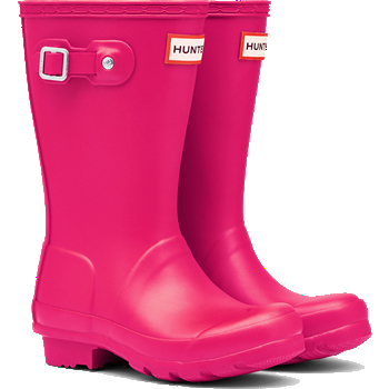 Image of Kids Original Hunter Wellies - Bright Pink - UK 1