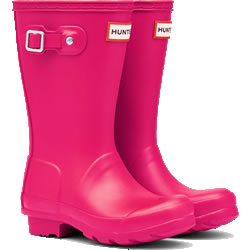 Small Image of Kids Original Hunter Wellies - Bright Pink - UK 1