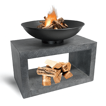 Image of Firebowl & Rectangle Console Cement