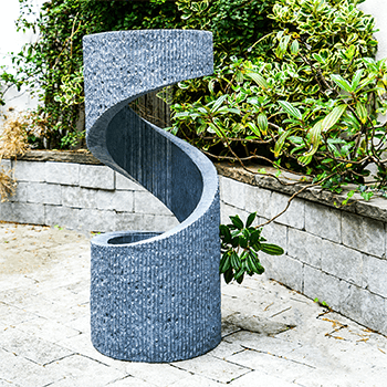 Image of Outdoor Spiral Water Feature Cement