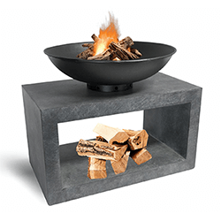 Small Image of Firebowl & Rectangle Console Cement