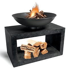 Small Image of Firebowl & Rectangle Console Granite