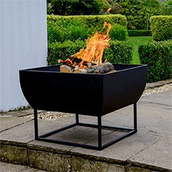 Small Image of Windermere Firebowl Black Iron