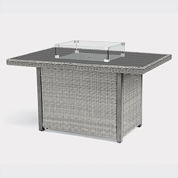 Image of Kettler Palma Mini Fire Pit Table (only) - White Wash