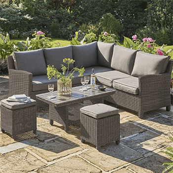 Image of Kettler Palma Mini Corner Sofa Set with Coffee Table, in Rattan