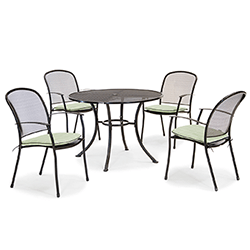 Extra image of Kettler Caredo 4 Seater Round Dining Set with Parasol in Sage