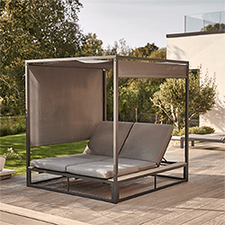 Extra image of Kettler Elba Daybed in Anthracite/Teak