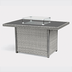 Small Image of Kettler Palma Mini Fire Pit Table (only) - White Wash