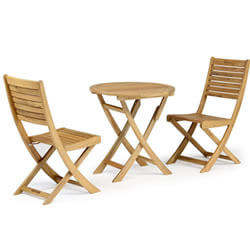 Small Image of Kettler RHS Chelsea Bistro Set in Eucalyptus Wood