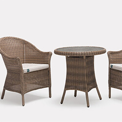 Extra image of Kettler RHS Harlow Carr Bistro Set in Natural