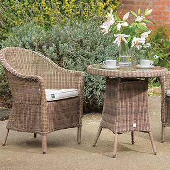 Small Image of Kettler RHS Harlow Carr Bistro Set in Natural