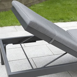 Extra image of Kettler Elba Lounger in Anthracite / Charcoal