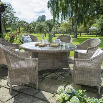 Image of Kettler RHS Harlow Carr 6 Seater Set in Natural