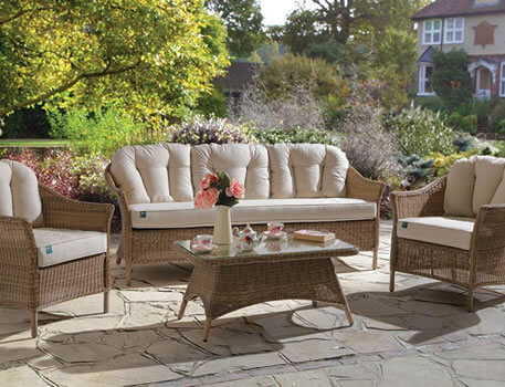 Image of Kettler RHS Harlow Carr Sofa Lounge Set in Natural