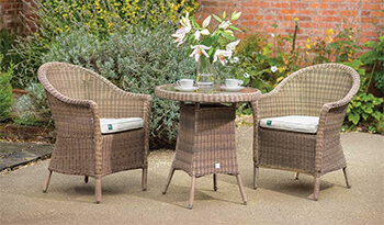Image of Kettler RHS Harlow Carr Bistro Set in Natural