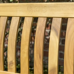 Extra image of Kettler RHS Chelsea 4ft (120cm) Bench in FSC Acacia Wood