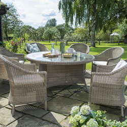 Small Image of Kettler RHS Harlow Carr 6 Seater Set in Natural