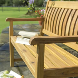 Extra image of Kettler RHS Chelsea 120cm Bench with Seat Pad in Acacia Wood