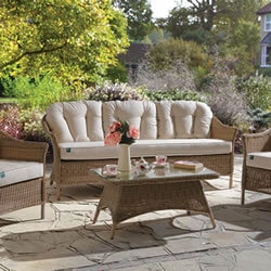Small Image of Kettler RHS Harlow Carr Sofa Lounge Set in Natural