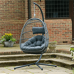 Small Image of Holly Single Hanging Egg Chair Cocoon