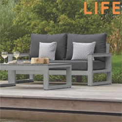 Small Image of LIFE Mallorca 2 Seat Sofa Bench