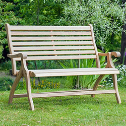 Small Image of Roble 4ft Folding Bench by Alexander Rose