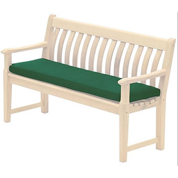 Image of Alexander Rose Polyester 4ft Garden Bench Cushion - Green