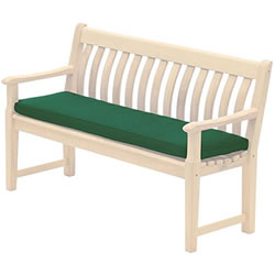 Small Image of Alexander Rose Polyester 4ft Garden Bench Cushion - Green