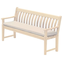 Small Image of Alexander Rose Polyester 5ft Garden Bench Cushion - Ecru