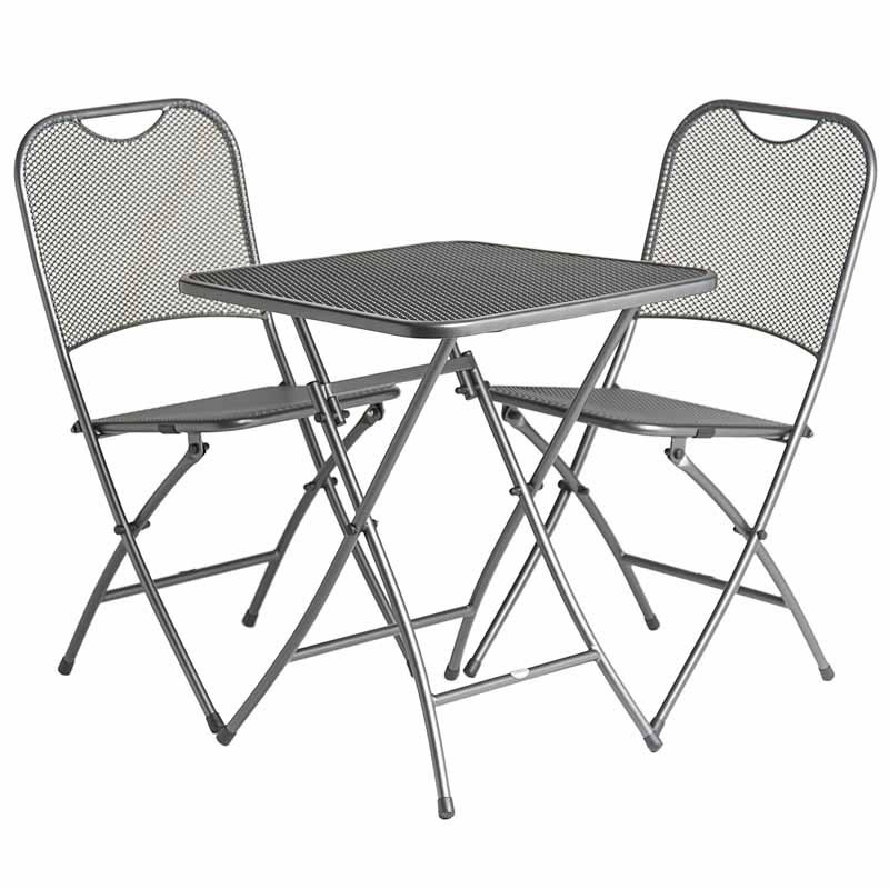 Extra image of Portofino 2 Seater Folding Bistro Set by Alexander Rose