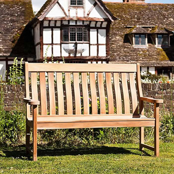 Image of Mahogany High Back 5ft FSC Garden Bench from Alexander Rose