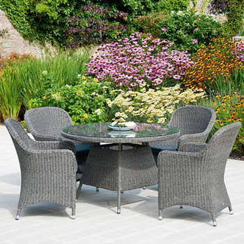 image of monte carlo 4 seater weave garden furniture set by alexander rose