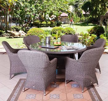 Image of Monte Carlo 6 Seater Weave garden Furniture Set by Alexander Rose