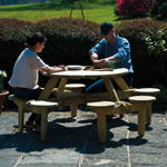 Pine FSC Gleneagles 8 Seater Picnic Table by Alexander Rose