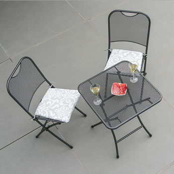 Image of Portofino 2 Seater Folding Bistro Set by Alexander Rose